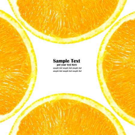 Pattern of half Orange isolated on white background