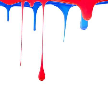 Red and Blue color painting photo