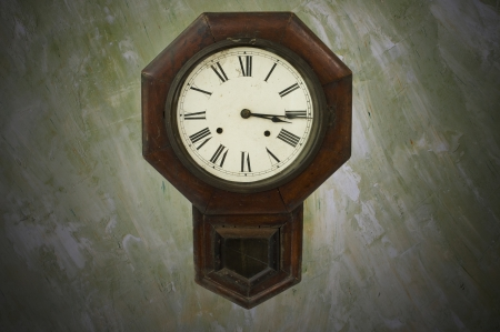 Antique clock on the wall