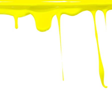 Paint dripping in yellow