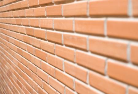 Brick wall with narrow depth of field