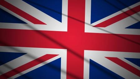 Flag of UK with beautiful lighting
