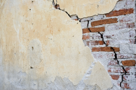 Old wall with a crack on it