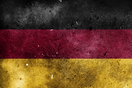 German flag painted on old dirty wall Stock Photo