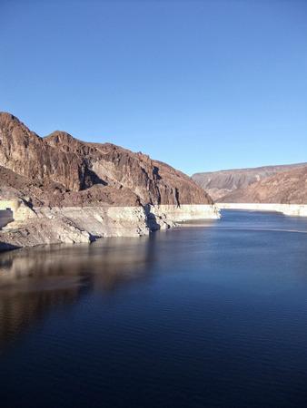 hoover: the Hoover Dam in Arizona, Nevada, Lake Mead