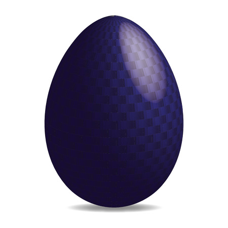 religious celebration: 3D illustration of a colorful easter egg with pattern