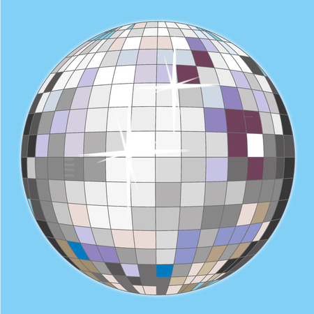 nineties: a colorful disco ball for a party night