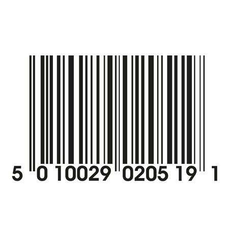 a simple barcode for decorative illustration over white backgrounds