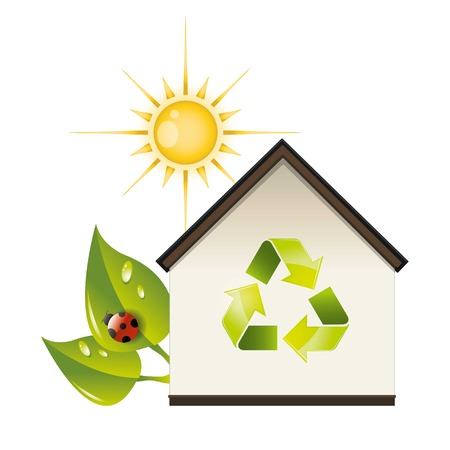 plotting for good ecological recycling house Illustration