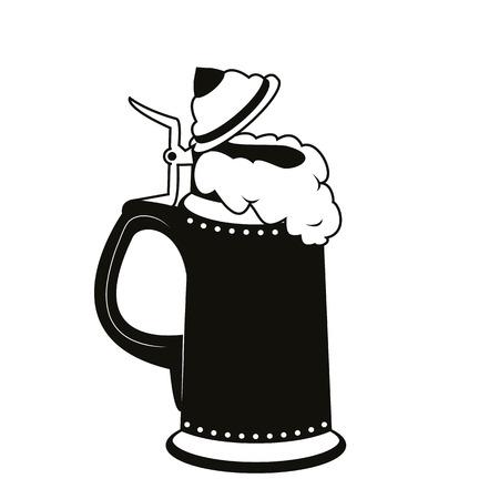 leather pants: a silhouette of a beer mug Bavaria