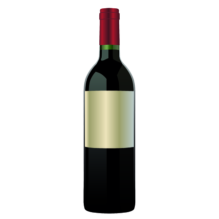 red wine pouring: an illustration of a wine bottle on a neutral background