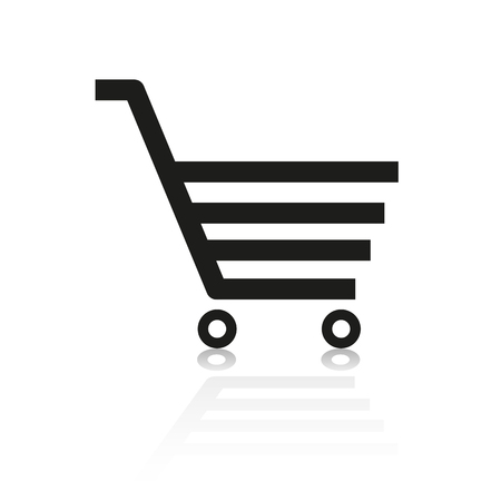 online shop: a shopping cart for online shop at