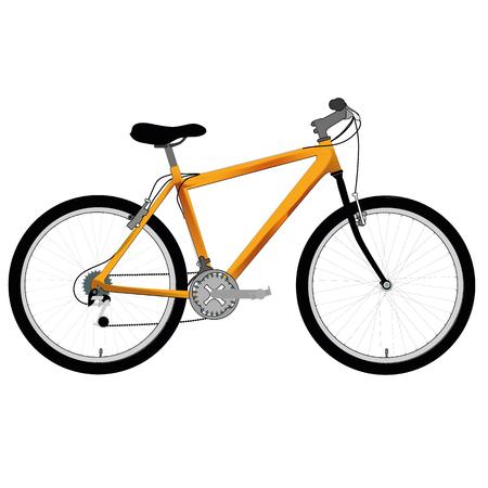 humane: an illustration of a yellow bike Illustration