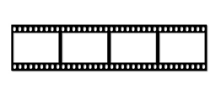 an illustration of an old filmstrip Illustration