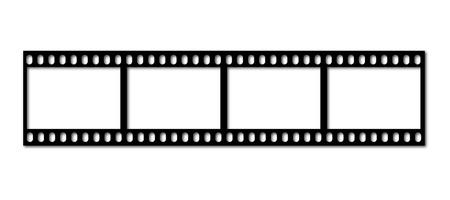 an illustration of an old filmstrip Illustration