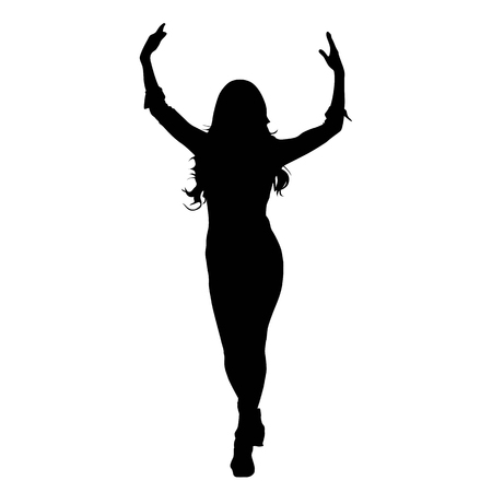 a black abstract silhouette of a woman