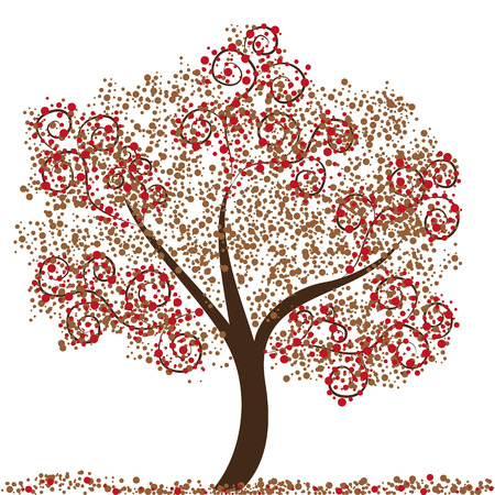 an abstract illustration of a tree  イラスト・ベクター素材