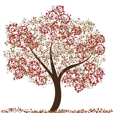 abstrakcyjna ilustracji drzewa