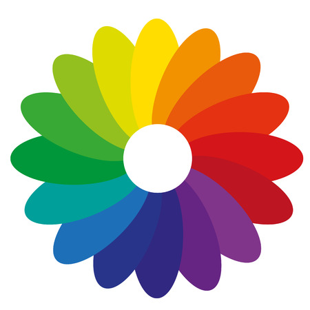 color mixing: using a flower for the illustration of the gradient