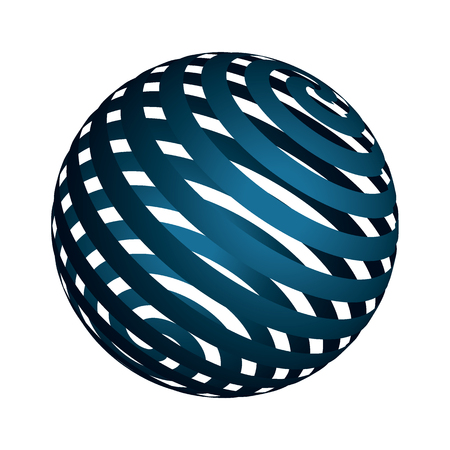 3d  ball: a colored 3D ball with abstract pattern Illustration