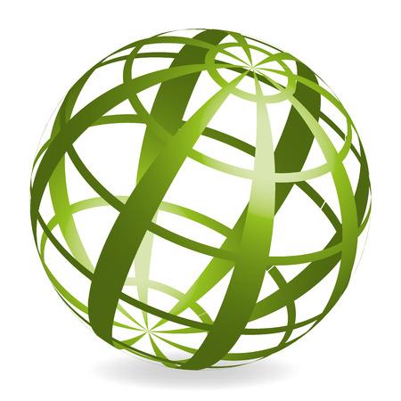 une boule 3D coloré avec motif abstrait Vecteurs