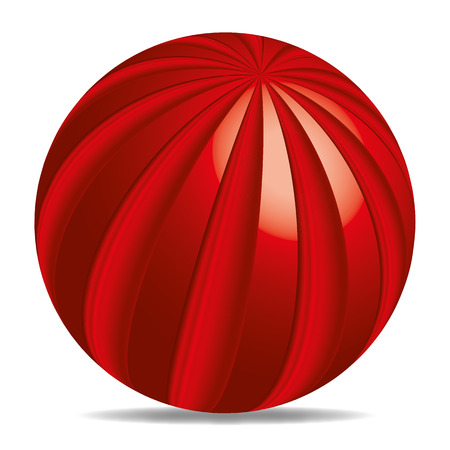 3d  ball: a colored 3D ball with abstract pattern Stock Photo