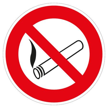 smoking ban: a colored shield as aSymbol for no smoking allowed Illustration