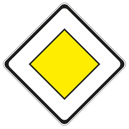 a symbol of an important road sign 일러스트