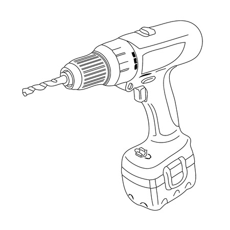 an abstract outline of a drill machine