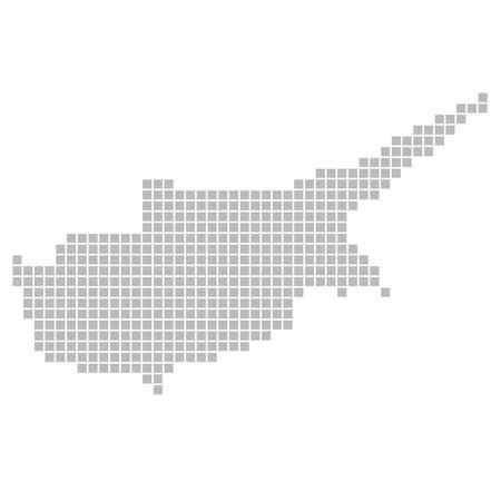 napa: Isolated Pixelmap of Cyprus Stock Photo