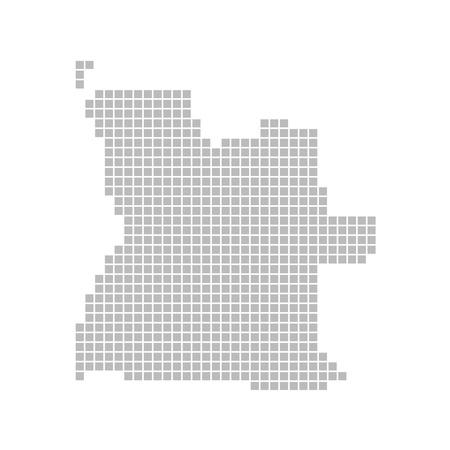 map of angola: Pixel map - Angola Stock Photo