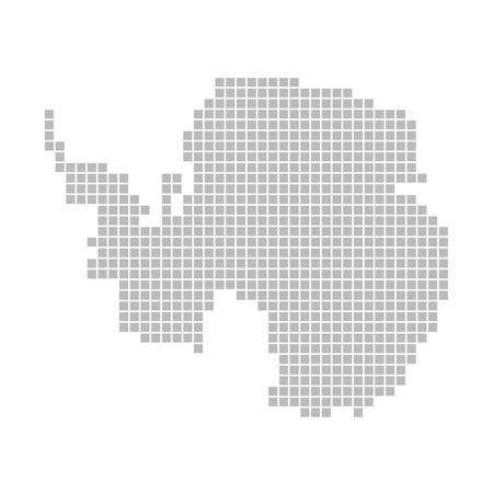 antarctica: Pixel map - Antarctica