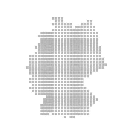 deutschland karte: Pixel-Karte - Deutschland