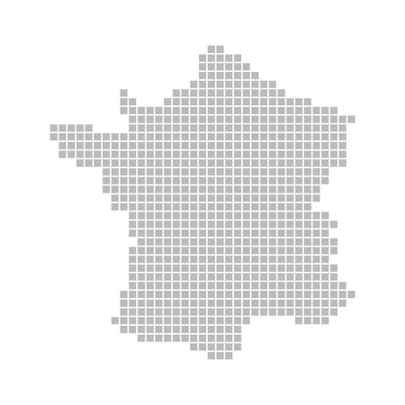 Pixel map - France photo
