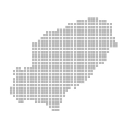 ibiza: Pixel map - Ibiza Stock Photo