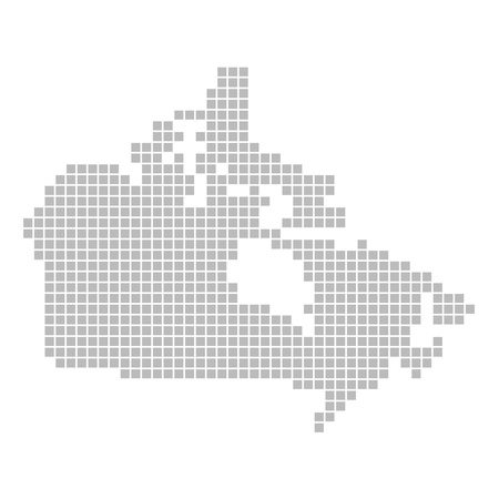 Pixel map - Canada photo