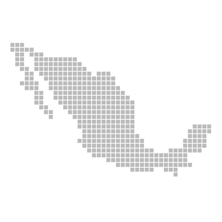 map mexico: Pixel map - Mexico