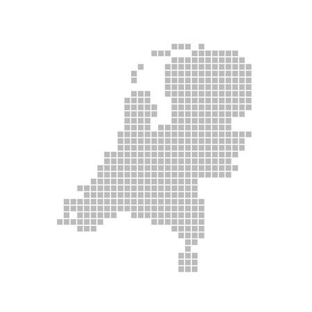 Pixel map - Netherlands photo