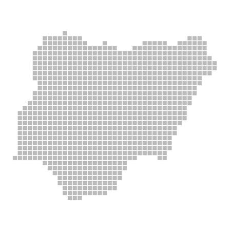 Pixel map - Nigeria photo
