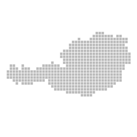 tirol: Pixel map - Austria Stock Photo