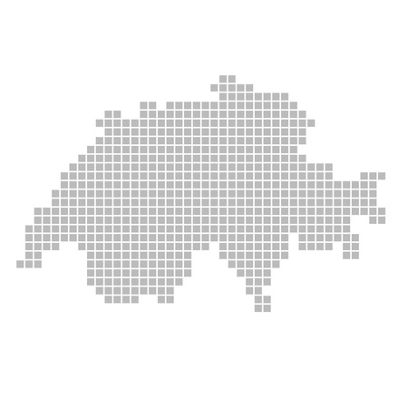 switzerland: Pixel map - Switzerland