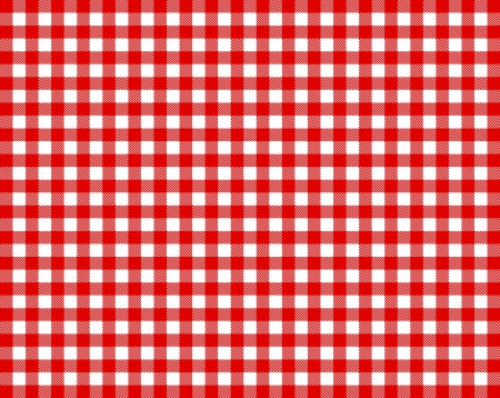 on the tablecloth: Checkered tablecloth - red and white