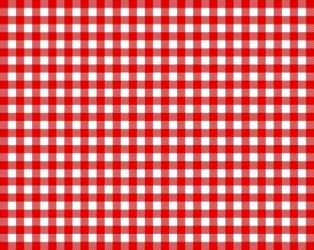 Karierten Tischtuch - rot und weiß