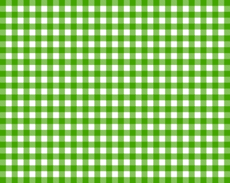 Checkered tablecloth - green and white photo