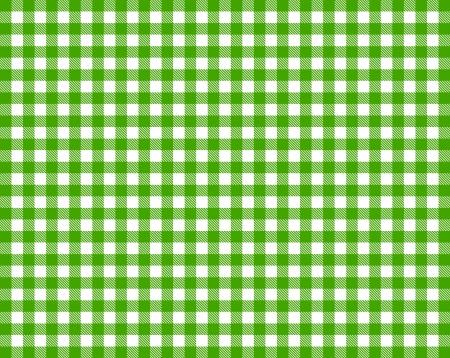 fixed line: Cuadros mantel - verde y blanco Foto de archivo
