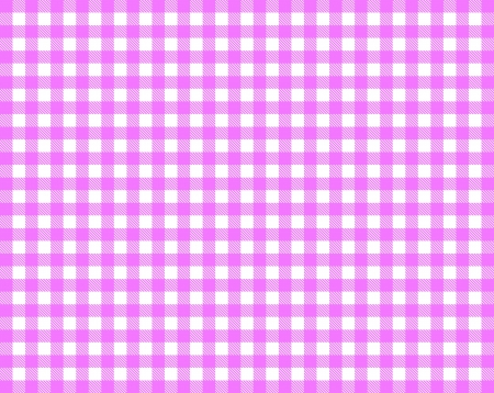 Pink white checkered tablecloth photo
