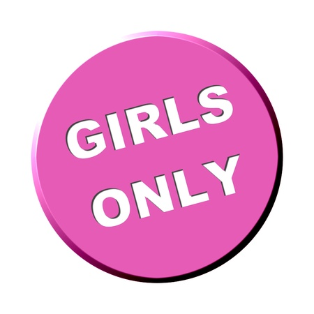 Some pink button - Girls only photo