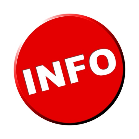 Red Round Button - Information Stock Photo - 13768959
