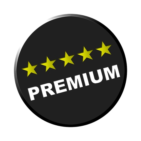 Round black button - Premium