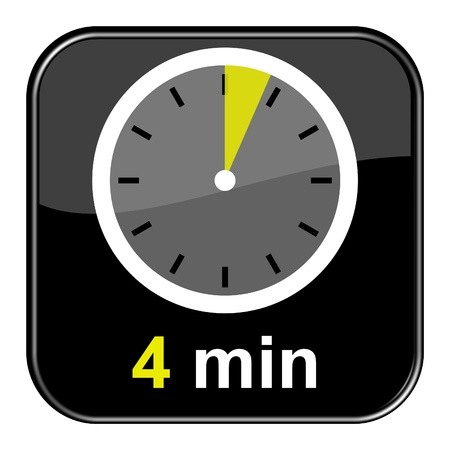 Glossy black button - 4 minutes